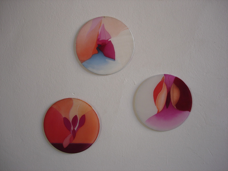 Silk paintings - Zen triptych
